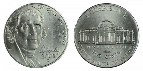 2008 D Jefferson Nickel