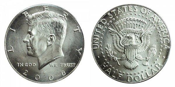 2008 D Kennedy Half Dollar