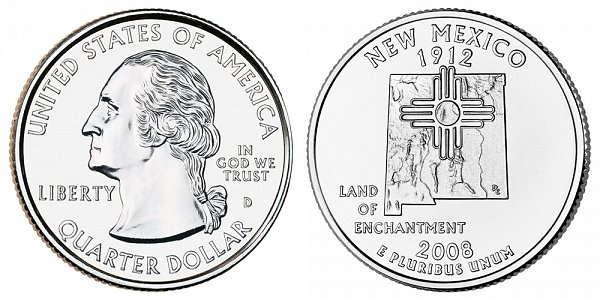 2008 D New Mexico State Quarter