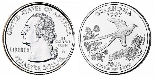 2008 D Oklahoma State Quarter