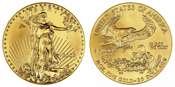 2008 Half Ounce American Gold Eagle - 1/2 oz Gold $25