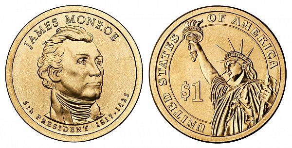 2008 D James Monroe Presidential Dollar Coin