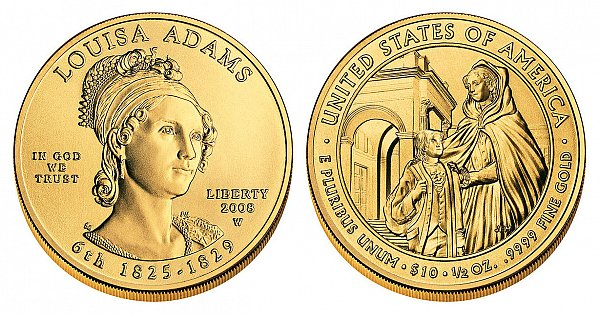 2008 Louisa Adams First Spouse Gold Coin