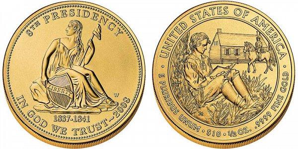 2008 Martin Van Burens Liberty First Spouse Gold Coin