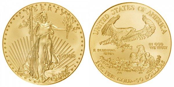 2008 One Ounce American Gold Eagle - 1 oz Gold $50