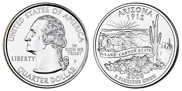 2008 P Arizona State Quarter