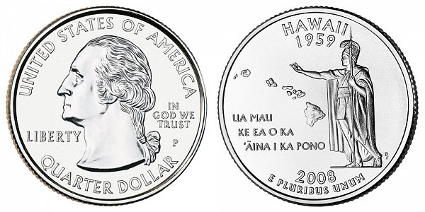 2008 P Hawaii State Quarter