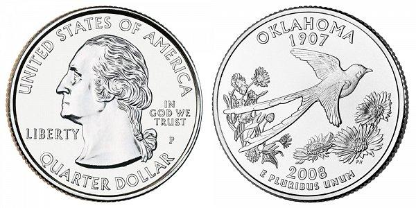 2008 P Oklahoma State Quarter