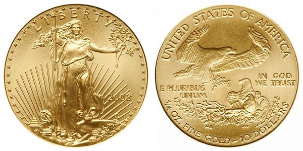 2008 Quarter Ounce American Gold Eagle - 1/4 oz Gold $10