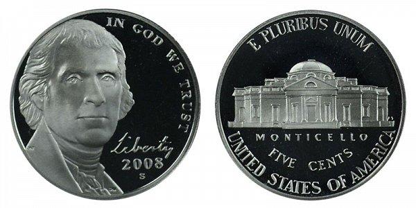 2008 S Jefferson Nickel Proof