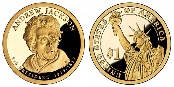 2008 S Proof Andrew Jackson Presidential Dollar Coin