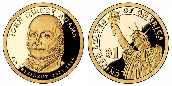 2008 S Proof John Quincy Adams Presidential Dollar Coin