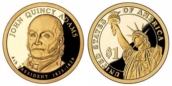 2008 S Proof John Quincy Adams Presidential Dollar Coin