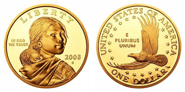 2008 S Sacagawea Dollar - Proof