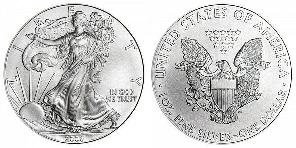 2008 Bullion American Silver Eagle
