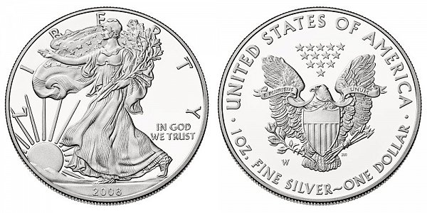 2008 W Proof American Silver Eagle
