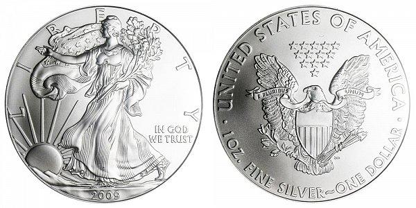2009 Bullion American Silver Eagle