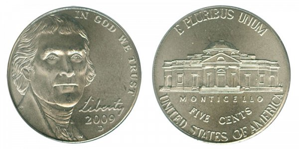 2009 D Jefferson Nickel