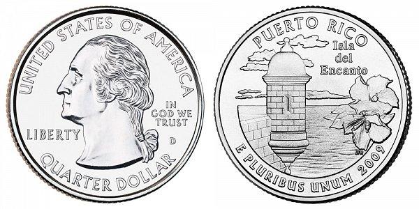 2009 D Puerto Rico Quarter