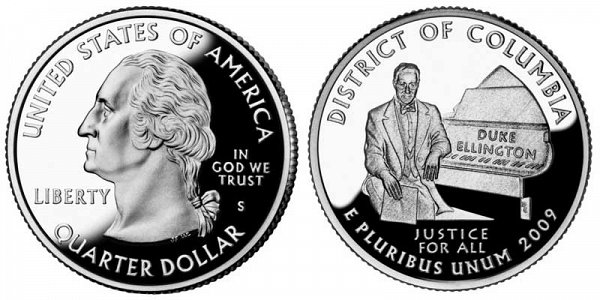 2009 S Proof District of Columbia Quarter