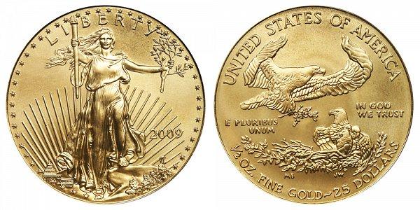 2009 Half Ounce American Gold Eagle - 1/2 oz Gold $25