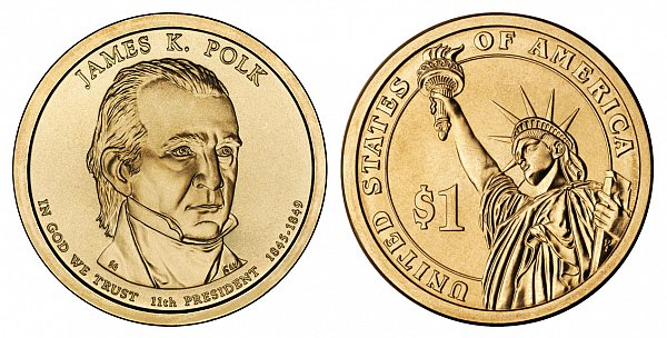 2009 P James K. Polk Presidential Dollar Coin