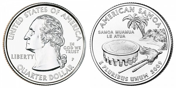 2009 P American Samoa Quarter