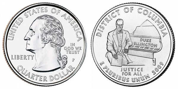 2009 P District of Columbia Quarter