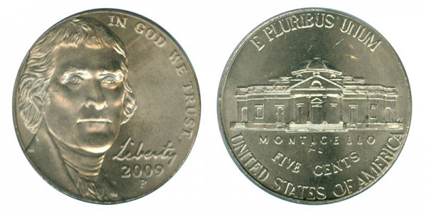 2009 P Jefferson Nickel