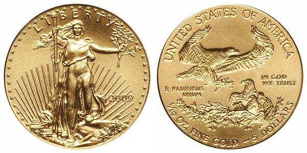 2009 Tenth Ounce American Gold Eagle - 1/10 oz Gold $5
