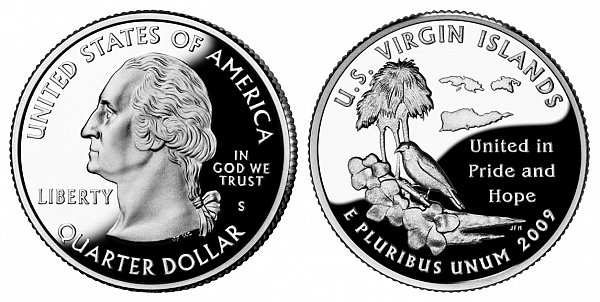 2009 S Proof US Virgin Islands Quarter