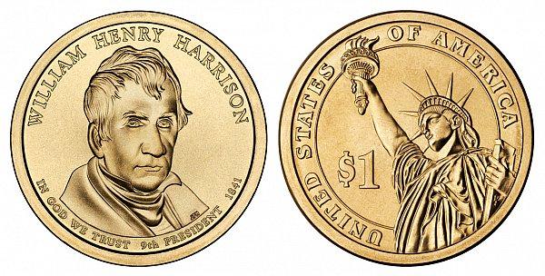 2009 D William Henry Harrison Presidential Dollar Coin