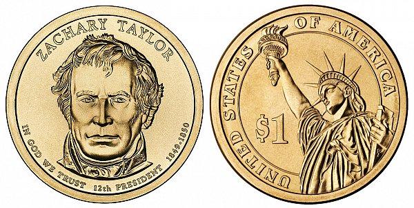 2009 D Zachary Taylor Presidential Dollar Coin