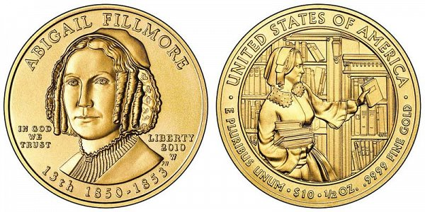 2010 Abigail Fillmore First Spouse Gold Coin