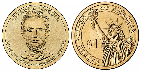 2010 P Abraham Lincoln Presidential Dollar Coin