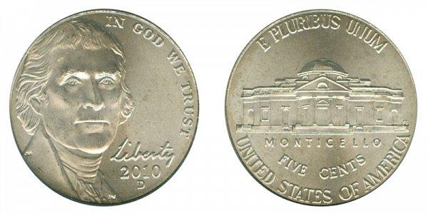 2010 D Jefferson Nickel