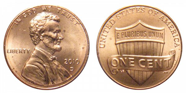 2010 D Lincoln Shield Cent Penny