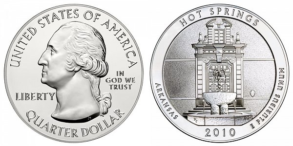 2010 Hot Springs 5 Ounce Bullion Coin - 5 oz Silver
