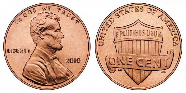 2010 Lincoln Shield Cent Penny