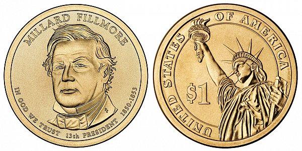 2010 P Millard Fillmore Presidential Dollar Coin