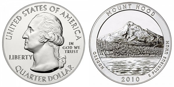 2010 Mount Hood 5 Ounce Bullion Coin - 5 oz Silver