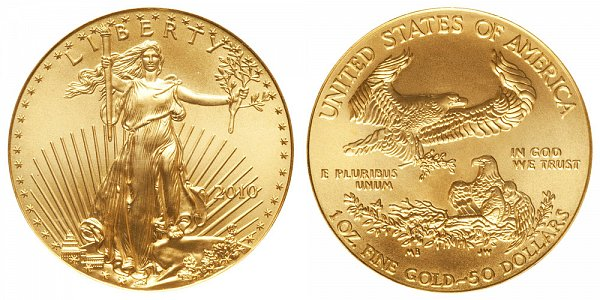 2010 One Ounce American Gold Eagle - 1 oz Gold $50