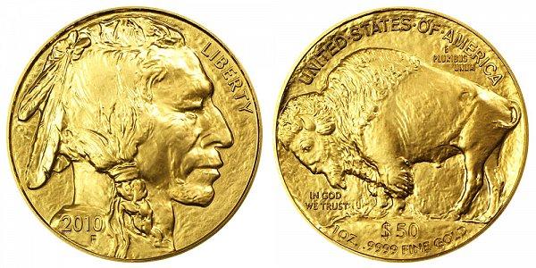 2010 One Ounce Gold American Buffalo - 1 oz Gold $50