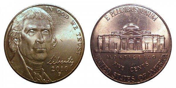 2010 P Jefferson Nickel