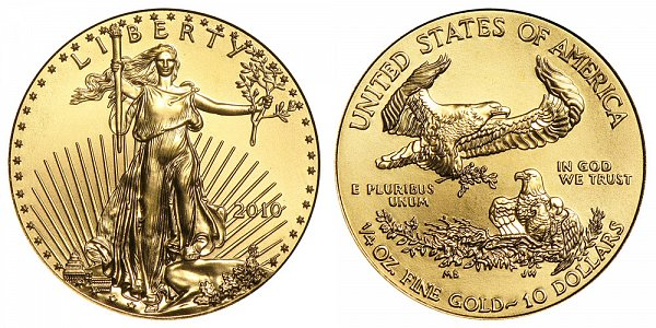 2010 Quarter Ounce American Gold Eagle - 1/4 oz Gold $10