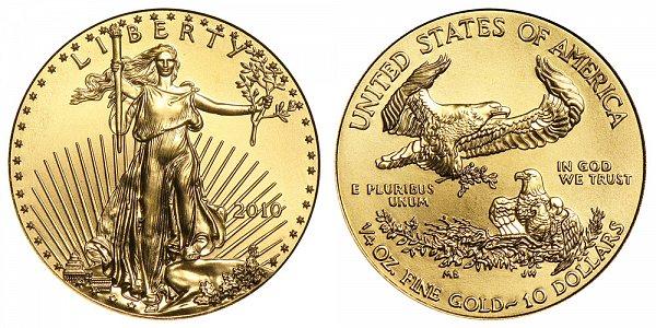 2010 Quarter Ounce American Gold Eagle - 1/4 oz Gold $10