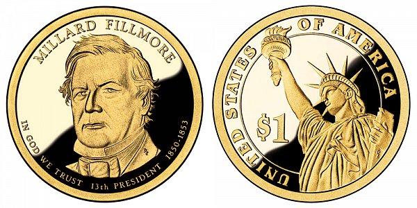 2010 S Proof Millard Fillmore Presidential Dollar Coin