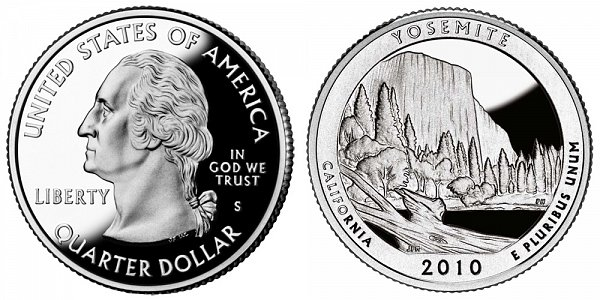 2010 S Proof Yosemite National Park Quarter - California