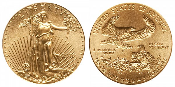 2010 Tenth Ounce American Gold Eagle - 1/10 oz Gold $5