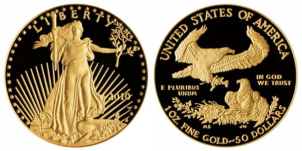 2010 W Proof One Ounce American Gold Eagle - 1 oz Gold $50
